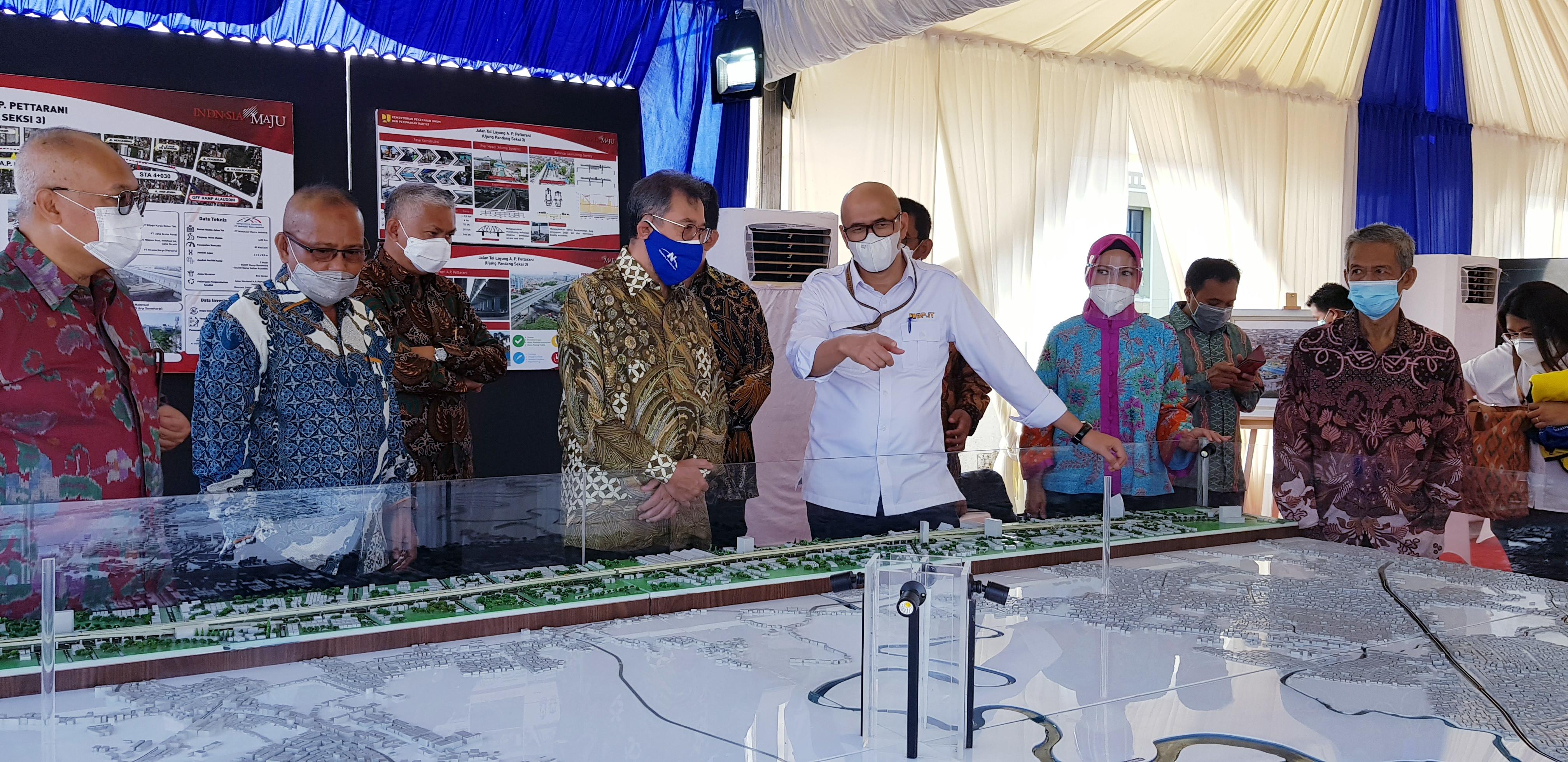 Peresmian Tol Layang A.P. Pettarani Makassar